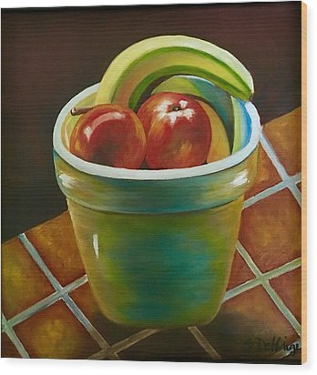 Just Fruit Reflections Wood Print by Susan Dehlinger