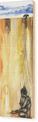 Just Need A Hug Wood Print by Anthony Burks Sr