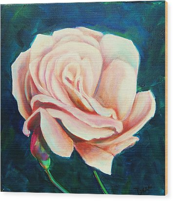 Just Peachy Wood Print by Dana Redfern