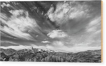 Wood Print featuring the photograph Just The Clouds by Jon Glaser