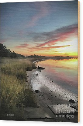Just The Two Of Us At Sunset Wood Print by Phil Mancuso