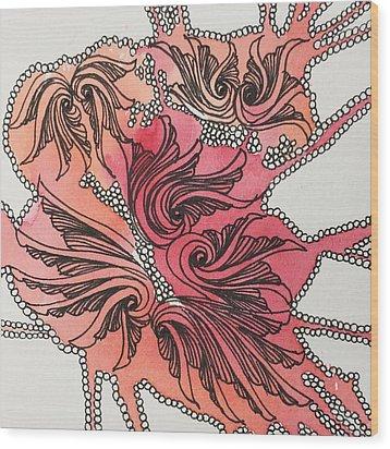 Just Wing It Wood Print by Jan Steinle