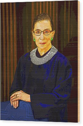 Justice Ginsburg Wood Print