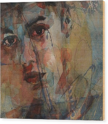 Wood Print featuring the mixed media Justin Bieber by Paul Lovering