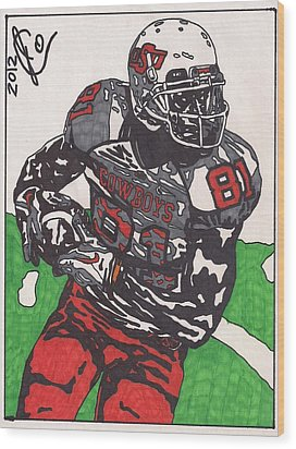 Justin Blackmon 2 Wood Print by Jeremiah Colley