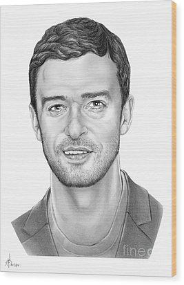 Justin Timberlake Wood Print by Murphy Elliott