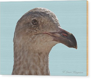 Wood Print featuring the photograph Juvenile Western Gull Bird by K L Kingston