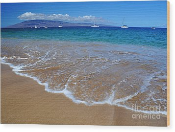 Wood Print featuring the photograph Ka'anapali Waves by Kelly Wade