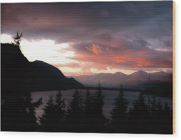 Kachess Lake Wood Print by Matthew Ahola