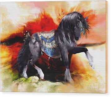 Kachina Hopi Spirit Horse  Wood Print