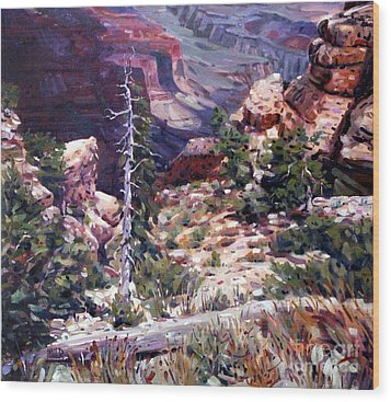 Kaibab Trail Wood Print by Donald Maier