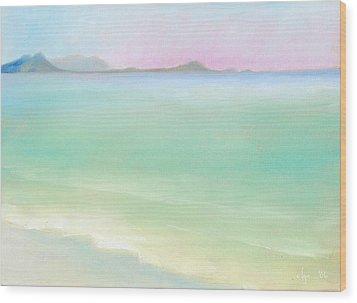 Kailua Sunrise Wood Print by Angela Treat Lyon