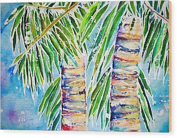 Kaimana Beach Wood Print by Julie Kerns Schaper - Printscapes