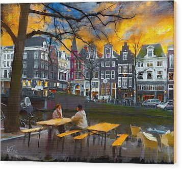 Wood Print featuring the photograph Kaizersgracht 451. Amsterdam by Juan Carlos Ferro Duque