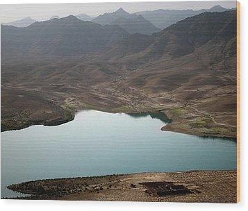 Kajaki Lake In Helmand Province Afghanistan Wood Print by Jetson Nguyen