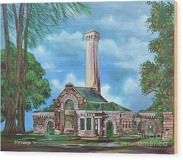 Kakaako Pumping Station Wood Print