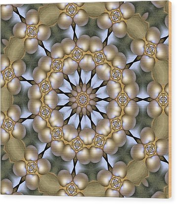Wood Print featuring the digital art Kaleidoscope 130 by Ron Bissett