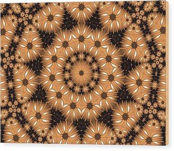 Wood Print featuring the digital art Kaleidoscope 131 by Ron Bissett