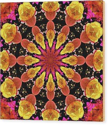 Kaleidoscope Art I I Wood Print by Laura Mountainspring