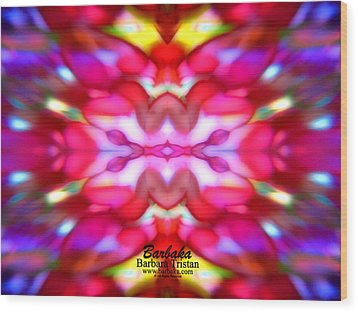 Wood Print featuring the photograph Kaleidoscope Wonder by Barbara Tristan