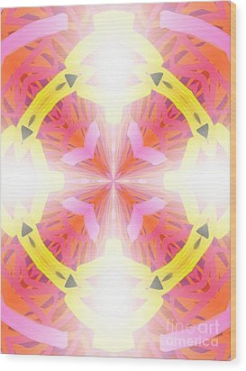 Kaleidoscope Lights Wood Print by Roxy Riou