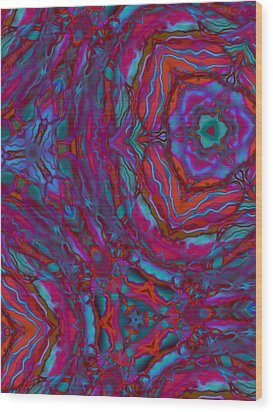 Kaleidoscope Wood Print