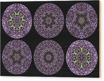 Kaleidoscope Sampler Wood Print by Teresa Mucha