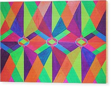 Kaleidoscope Wise Wood Print by Ann Sokolovich