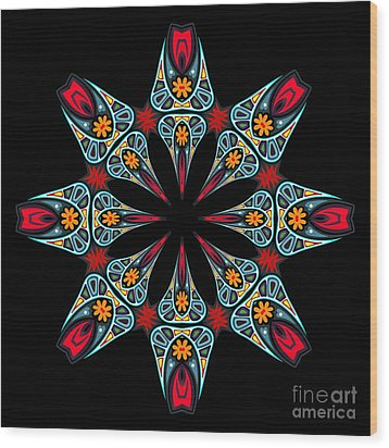 Wood Print featuring the digital art Kali Kato - 06a by Aimelle
