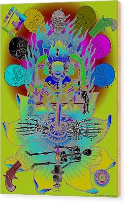Kali Yuga Wood Print by Eric Edelman