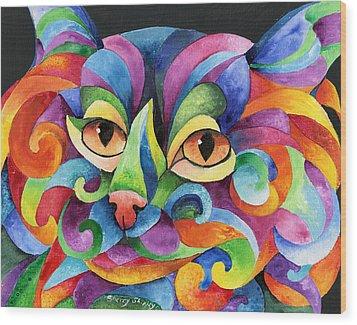 Kalidocat Wood Print by Sherry Shipley