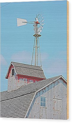 Kalona Barn Wood Print by Jame Hayes