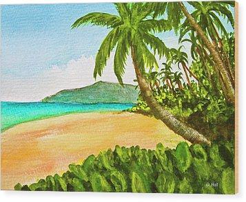 Kamaole Beach Maui Hawaii Art Painting #349 Wood Print by Donald k Hall