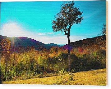 Kancamagus Sunset Wood Print