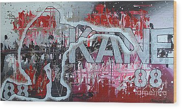 Wood Print featuring the painting Kaner 88 by Melissa Goodrich