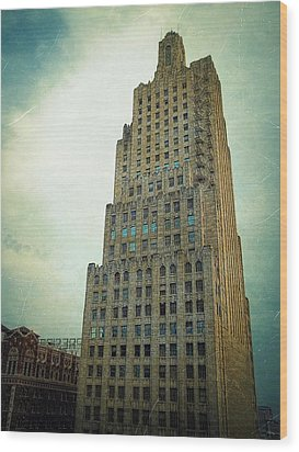 Wood Print featuring the photograph Kansas City Gotham by Glenn McCarthy Art and Photography