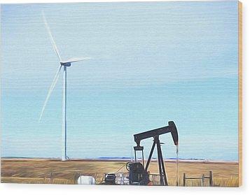 Wood Print featuring the digital art Kansas Energies  by JC Findley