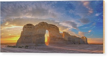 Wood Print featuring the photograph Kansas Gold by Darren White