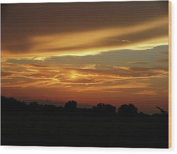 Kansas Summer Sunset Wood Print