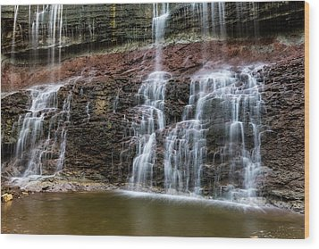 Kansas Waterfall 3 Wood Print