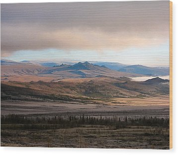 Wood Print featuring the photograph Kanuti Flats by Adam Owen