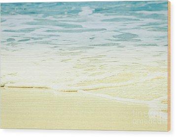 Wood Print featuring the photograph Kapalua Beach Dream Colours Sparkling Golden Sand Seafoam Maui by Sharon Mau