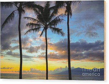 Wood Print featuring the photograph Kapalua Dream by Kelly Wade