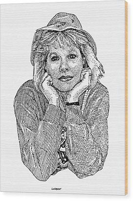 Karen Marie Wood Print by Dave Luebbert