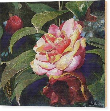 Karma Camellia Wood Print