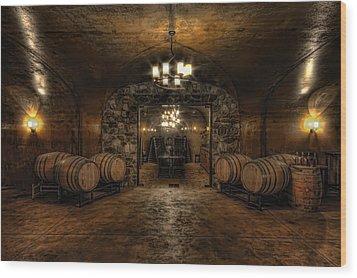 Karma Winery Cave Wood Print