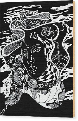 Karma Wood Print by Yelena Tylkina