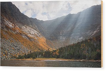 Katahdin And Chimney Pond Wood Print
