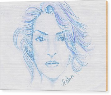 Kate Winslet Wood Print by Remy Francis