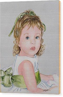 Kathryn - Commissioned Portrait Wood Print